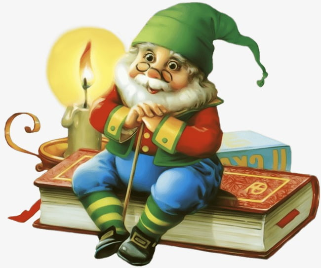 Christmas Elf with Books