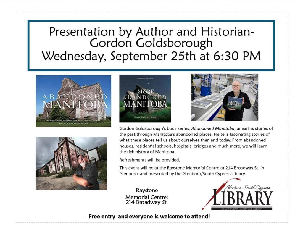 Gordon Goldsborough in Glenboro