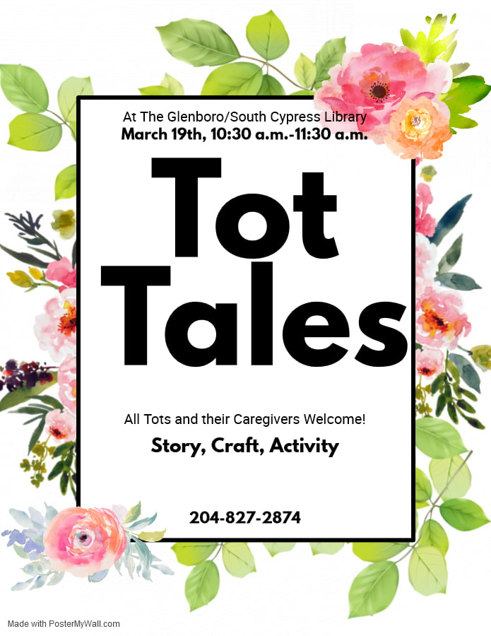Tot Tales begins on March 19th