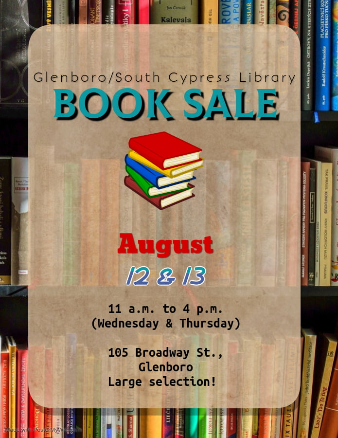 Glenboro/South Cypress Library Book Sale