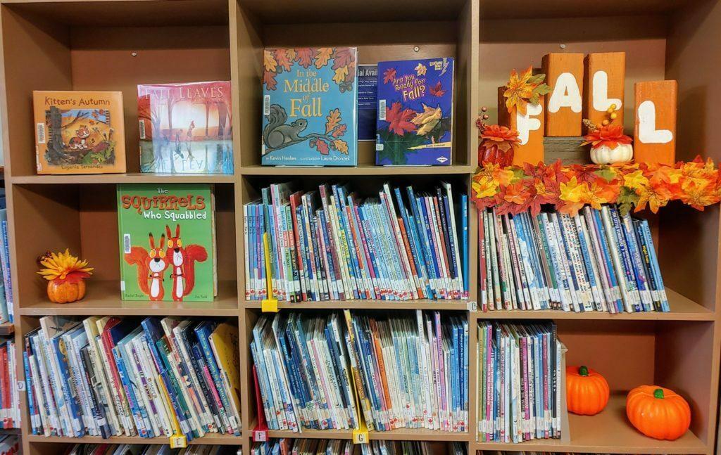 Fall reading in Glenboro Library