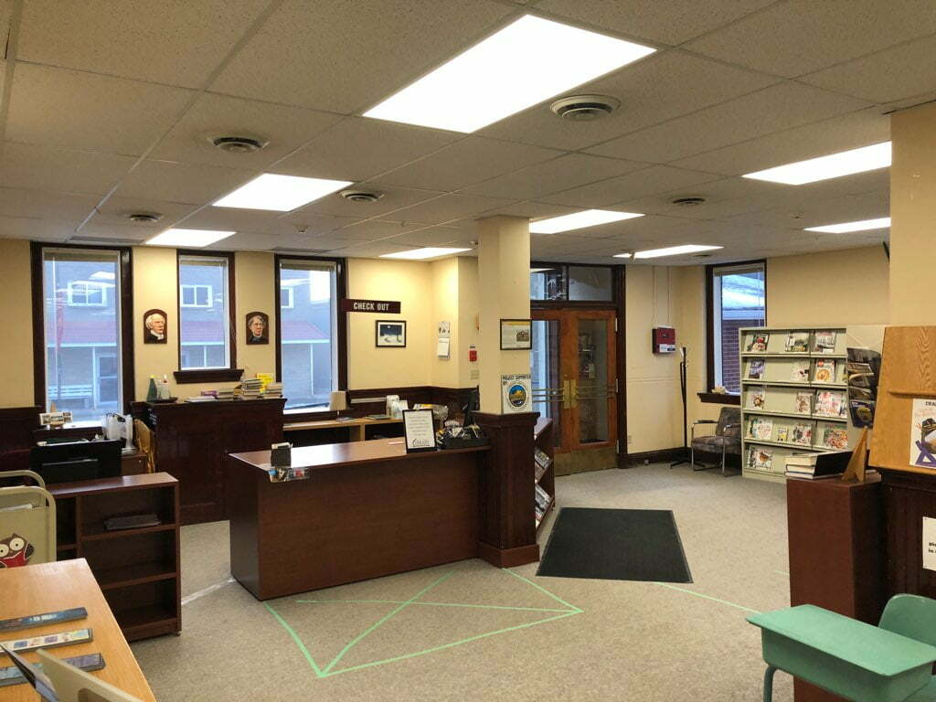 New Lighting at Carberry Library