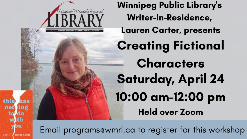 Writing Workshop presented by author Lauren Carter