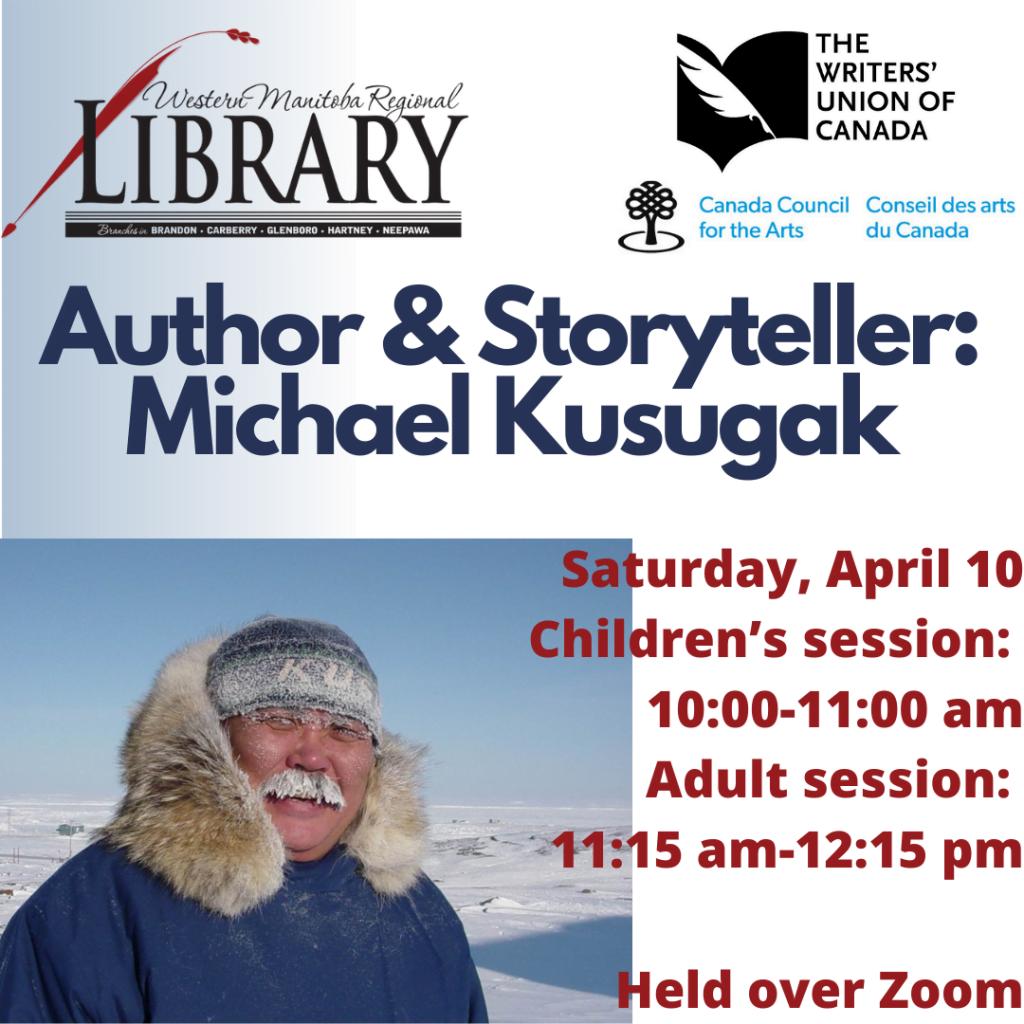 Upcoming Author Reading: Michael Kusugak