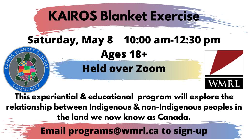 WMRL Presents Virtual KAIROS Blanket Exercise