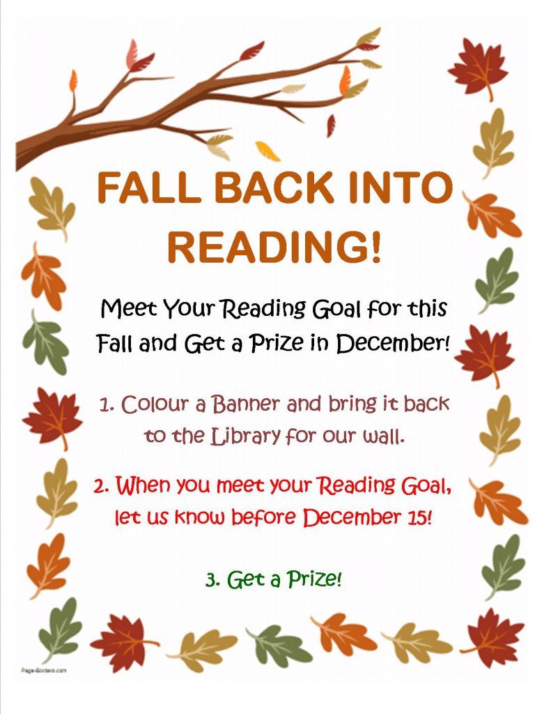 Fall Back Into Reading!