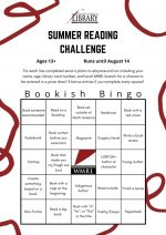 Teen_Adult Summer Reading Bingo